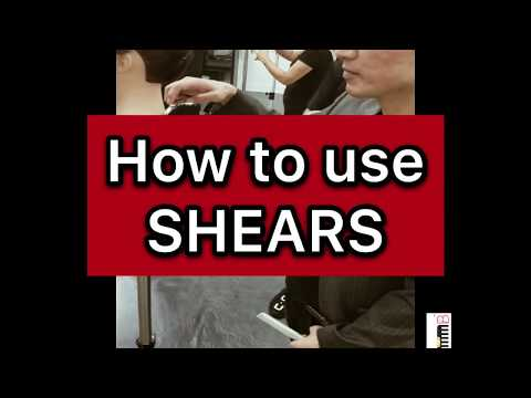 THE COMB: How to use shears