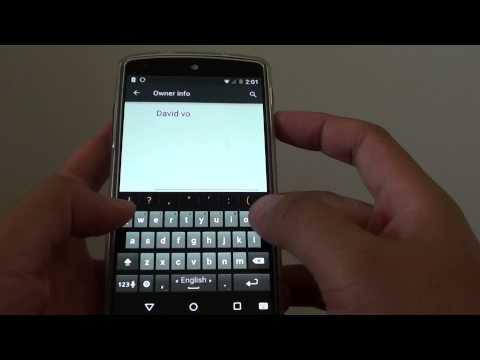 Google Nexus 5: How to Display Owner Info on Lock Screen