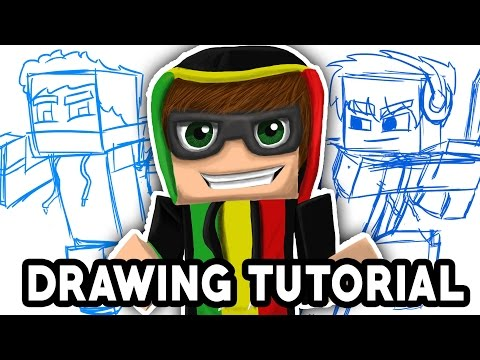 How to draw minecraft characters [Tutorial] [Photoshop CC]