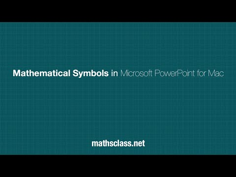 Mathematical Symbols in Microsoft PowerPoint for Mac