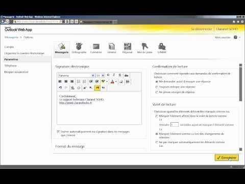 Outlook Web App : ajouter une signature