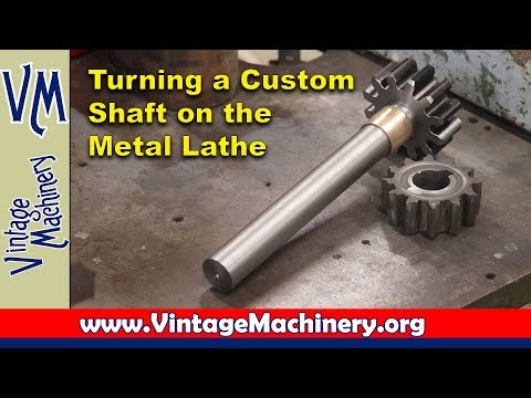 Turning a Custom Shaft on the Metal Lathe - Drill Press Gear Repair