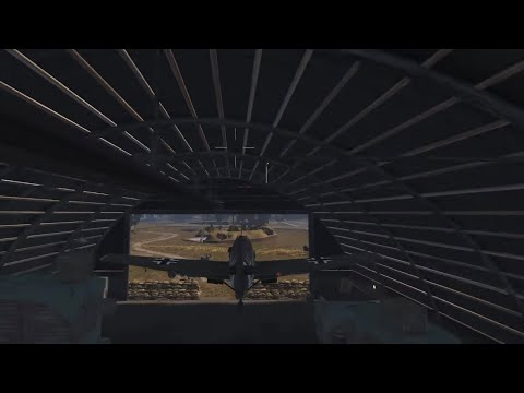 Flying through the hangar (Heroes and Generals)