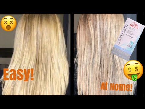 HAIR UPDATE How to tone a blonde balayage with Wella T18