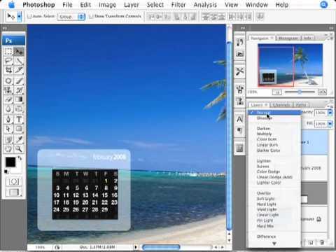 Photoshop Tutorial  Calendar Desktop