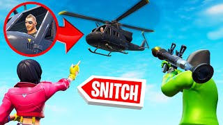 SNITCH The HELICOPTER PILOT To WIN! (Fortnite Hide And Seek)
