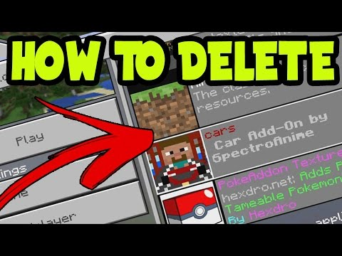 (iOS ADDONS) HOW to DELETE ADDONS and BEHAVIOR PACKS for MCPE iOS // 0.16.0 Minecraft Pocket Edition