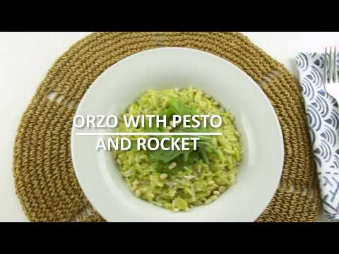 Orzo with Pesto and Rocket