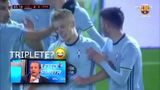 Gol de Wass Celta vs Real Madrid [25/01/2017][Copa Del Rey] RAC1