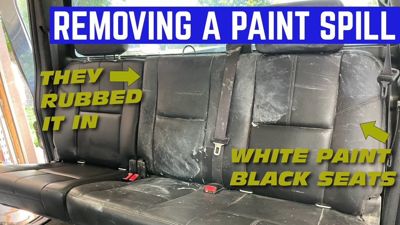 DISASTER DETAIL! Removing The MASSIVE Interior Paint Spill From My $3,500 Chevy Silverado