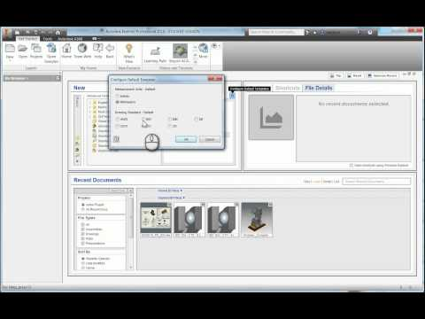 Changing Templates Autodesk Inventor 2016 Templates from Imperial to Metric