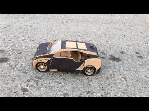 How to make RC Car BMW i3 from Cardboard at Home - Amazing DIY