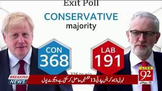 Special Transmission | UK Genral Elections Exit poll | 12 December 2019 | 92NewsHDUK