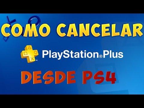 Como cancelar el servicio PlayStation Plus desde PS4