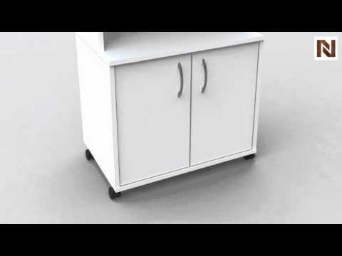 Nexera Storage Microwave Cart 399