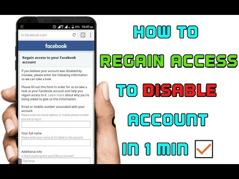 How to Regain Access To Disable Facebook Account without proof in 1Min ?