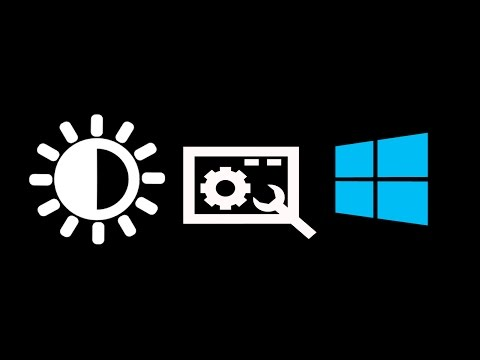 Brightness won't adjust easy fix for windows