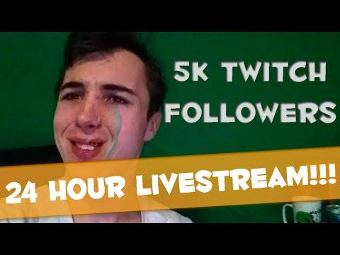 24 hour Livestream and 5k Followers