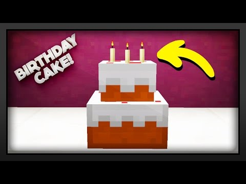 Minecraft - How To Make A Birthday Cake