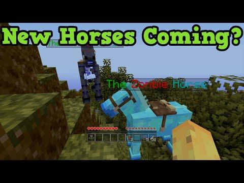 Minecraft Xbox 360 + PS3 New Horses Exclusive - Zombie + Skeleton Horse