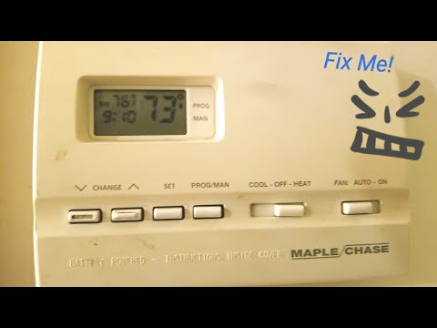 Maple Chase 9600 aka Robertshaw 9600 Thermostat Quick Fix DIY