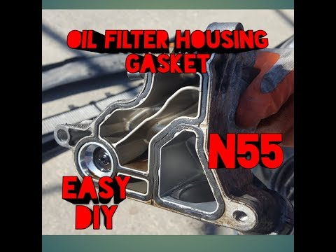 HOW TO CHANGE THE OIL FILTER HOUSING GASKET ON A BMW 335I N55 FAST AND EASY