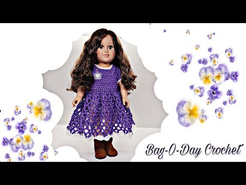 How To Crochet Pansy Paradise American Girl  18