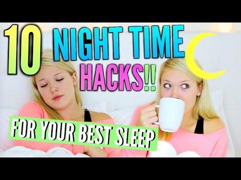 10 Night Time HACKS   Get Your BEST Sleep!