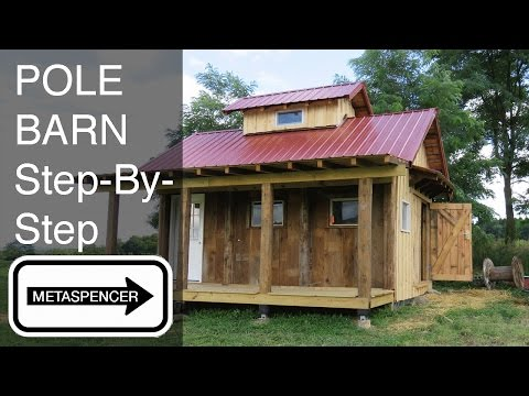 Boat Barn Step By Step, Pole Barn DIY Kayak Mower Storage