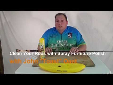 Clean and Restore Fishing Rods with Spray Furniture Polish: Episode 112