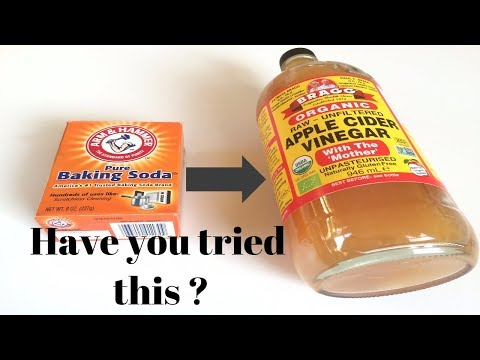How to mix Baking Soda with Apple cider vinegar for body odor and whiten underarms