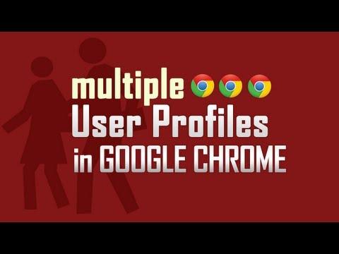 Create multiple User Profiles in Google Chrome