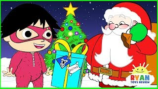 Ryan Helps Santa delivering presents | Christmas Cartoon Animation for Children