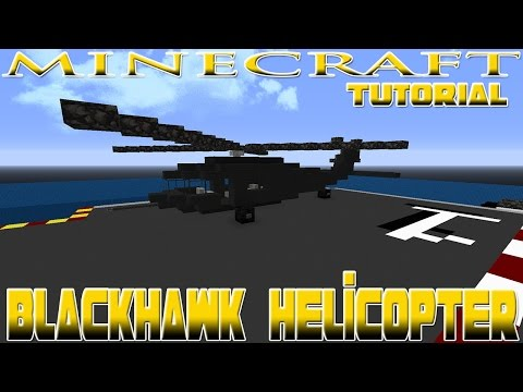 Minecraft Sikorsky UH-60 Black Hawk Helicopter Tutorial