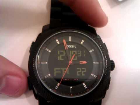 Fossil anadigi machine watch