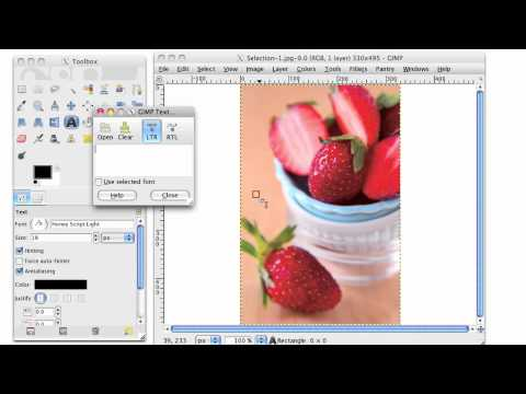 GIMP Tutorial- How to Watermark Your Photos in GIMP