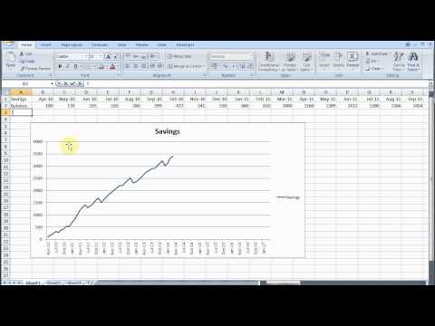 Track Savings with Excel Part 1 Graph and Targets