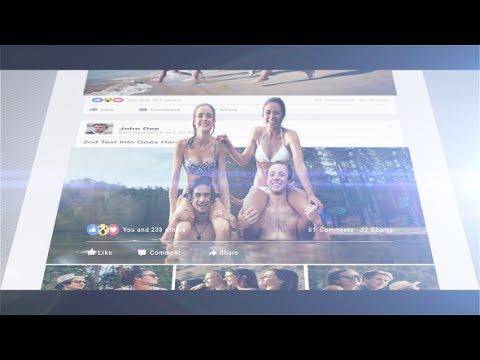 Facebook Timeline 3D Template After Effect Free Download