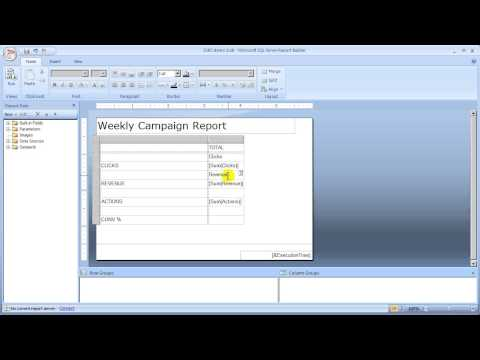 Report Builder 2/8 - Adding a table of campaign metrics