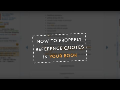 How to Properly Reference Quotes in Your Book