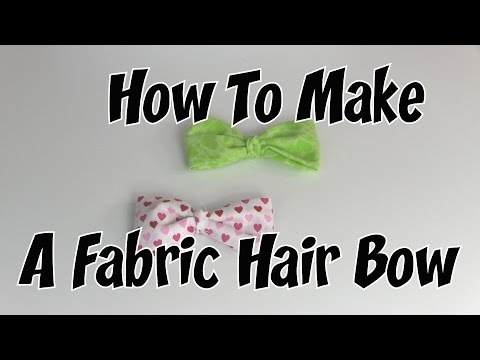 How To Make A Fabric Hair Bow (NO SEW)