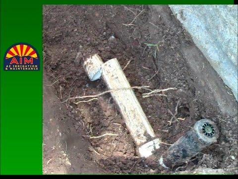 Moving Broken Sprinkler Head with New Sprinkler Head and Swing Joint