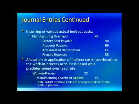 Intro to Managerial Accounting: Job Order Costing #3 Journal Entries & Dealing with Overhead (Ch. 4)