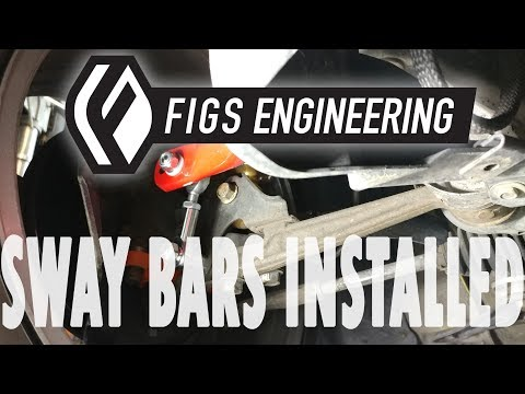 FIGS IS300 Hotchkis Sway bar install  plus relocation bracket and endlinks FRONT