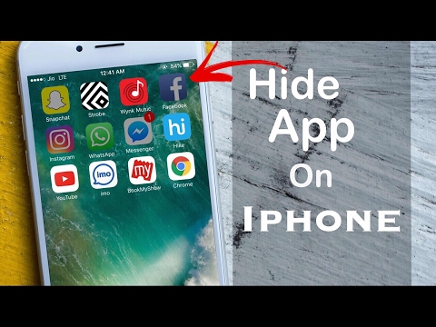 How to Hide App on Iphone 4s to 7+  or Ipad (No Jailbreak)