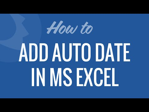Add Automatic Date in Excel