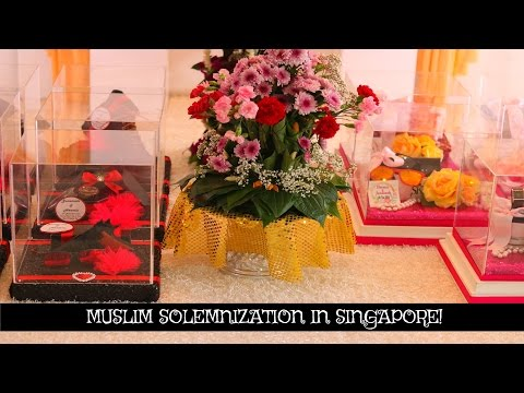 Baby Brother's Wedding   Muslim Solemnization In Singapore   Majlis Akad Nikah Di Singapura