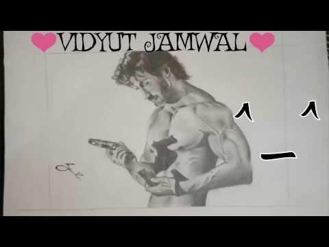 vidyut jamwal sketch | Commando 2 Movie Hero | vidyut jamwal drawing