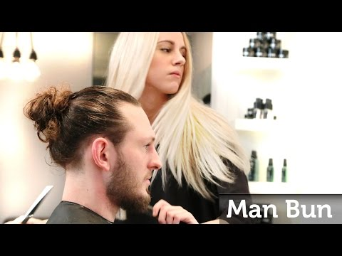 Man Bun - How to make the Famous Celebrity Top Knot - Men's Long Hair