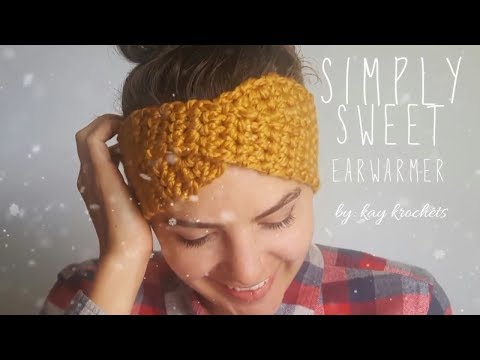 How to crochet Simply Sweet Earwarmer | Twisted Earwarmer | Turban Earwarmer | Crochet Earwarmer